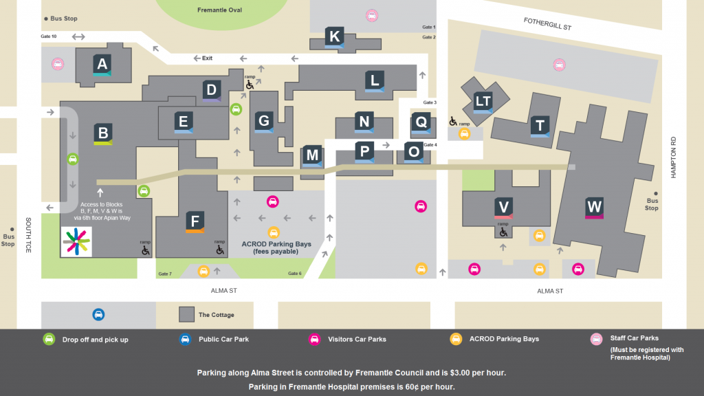 Fremantle Hospital Map